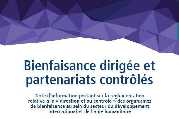 Le Conseil canadien pour la coopération internationale publie des recommandations visant à améliorer le cadre réglementaire et législatif du secteur de la bienfaisance au Canada
