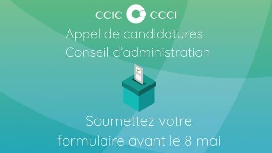 Appel de candidatures au conseil d'administration du CCCI