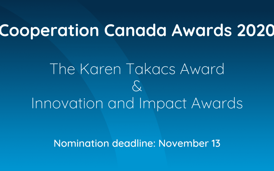 The call for nominations for Cooperation Canada awards is now open