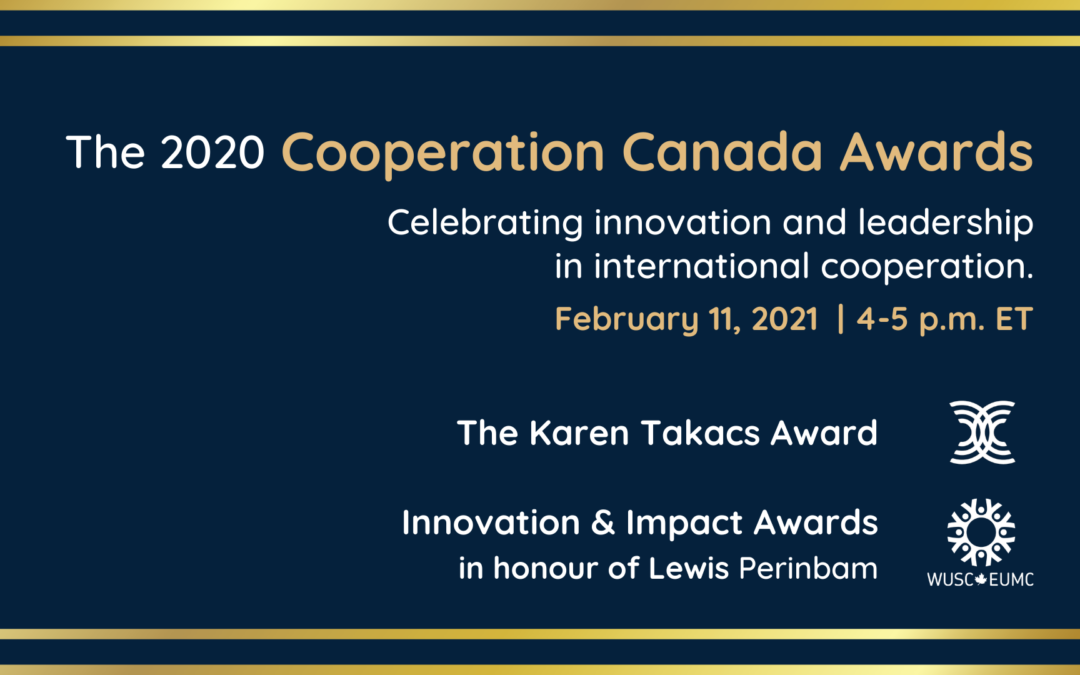Zaida Bastos, Kehkashan Basu and Développement international Desjardins (DID) win the 2020 Cooperation Canada Awards