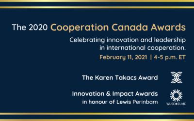 Zaida Bastos, Kehkashan Basu and Développement international Desjardins (DID) win the 2020 Cooperation Canada Awards