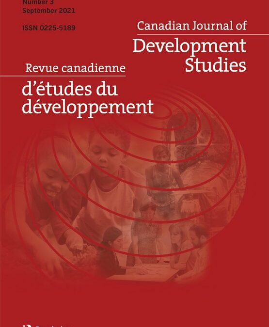 Next Generation: A special issue of the Canadian Journal of Development Studies coming out from a collaboration between Cooperation Canada and CASID